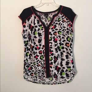 Worthington Animal Print Blouse